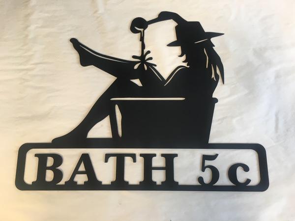 Woman in Bath Silhouette - RusticMetalArt